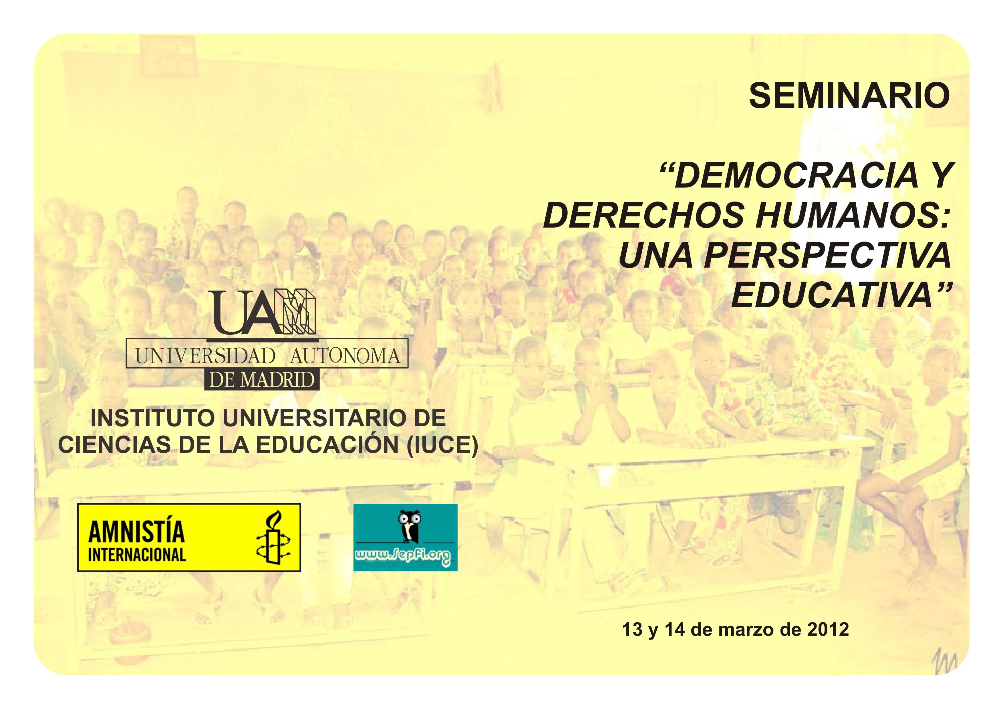 Democracia y Derechos Humanos. Una Perspectiva Educativa