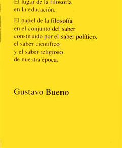 G.BUENO. ¿Qué es la filosofía?