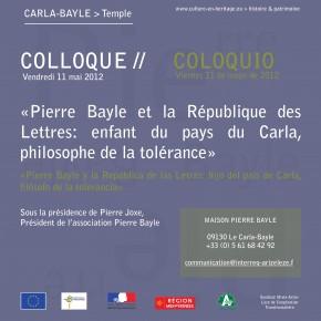 Colloque: Pierre Bayle et la République des Lettres