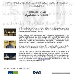 Congreso Internacional de Hermenéutica Analógica 2012