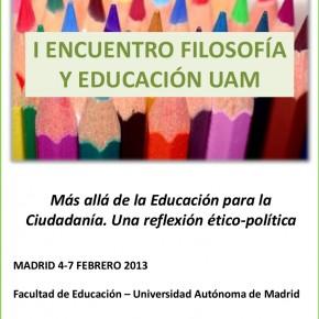 I Encuentro Filosofía y Educación UAM