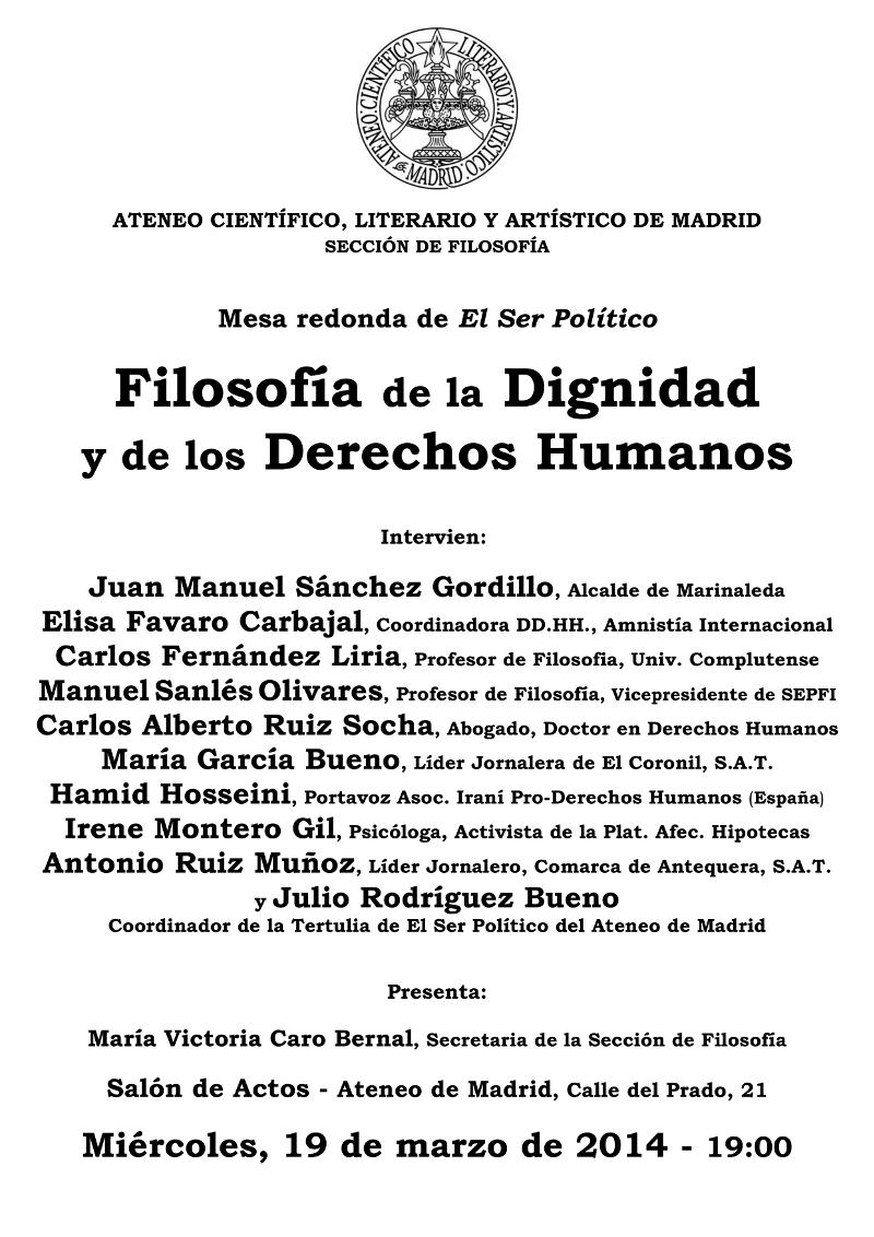 Cartel - Dignidad y Derechos Humanos