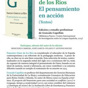 GINER DE LOS RÍOS, EL PENSAMIENTO EN ACCIÓN