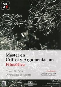 Máster en Crítica y Argumentación Filosófica 2015-2016 (1)