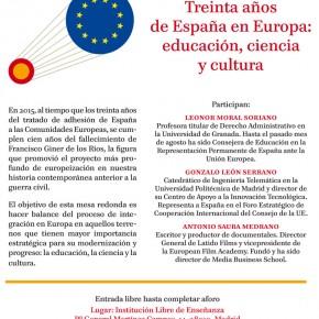 TREINTA AÑOS DE ESPAÑA EN EUROPA