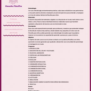CONSULTA FILOSÓFICA (CURSO)