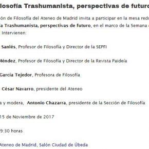 LA FILOSOFÍA TRANSHUMANISTA, PERSPECTIVAS DE FUTURO
