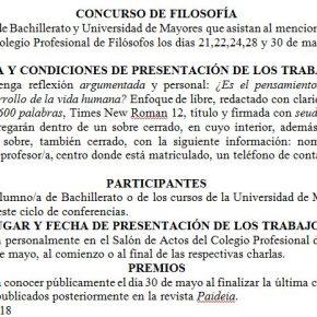 CONCURSO DE FILOSOFÍA