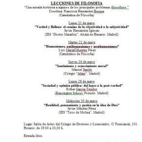 LECCIONES DE FILOSOFÍA. COLEGIO D. Y LIC.