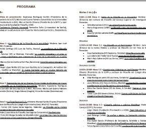 II ENCUENTRO PROFESORES FILOSOFÍA. PROGRAMA