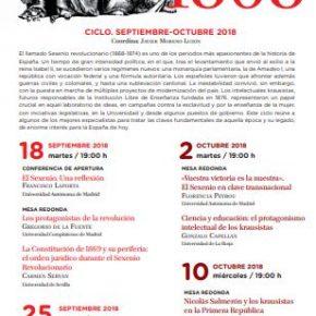 150 AÑOS DE LA REVOLUCIÓN DE 1868