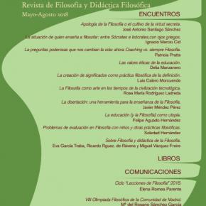 PAIDEÍA NÚM. 112 II ENCUENTROS DE PROFESORES DE FILOSOFÍA mayo-agosto 2018